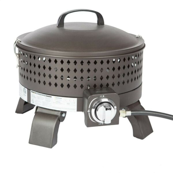 Fire Sense Campfire Fire Pit Camping Outdoor Wood Burning Bronze Portable Steel
