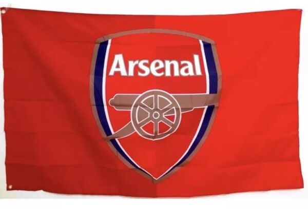 Arsenal Flag Banner 3x5 ft Soccer New Futbol Club Red With Metal Grommets
