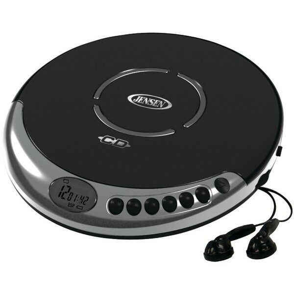 JENSEN CD-60C Personal Portable CD Player with Bass Boost