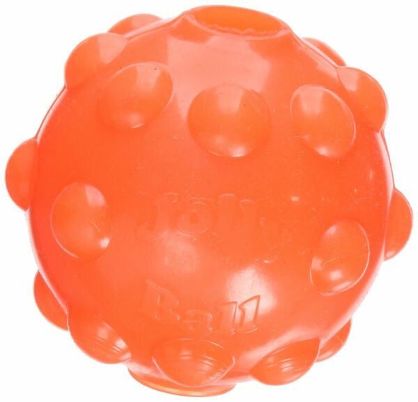 Jolly Pets Jumper Ball Orange 3 inch  Erratic Rubber Treat Toy for Dogs