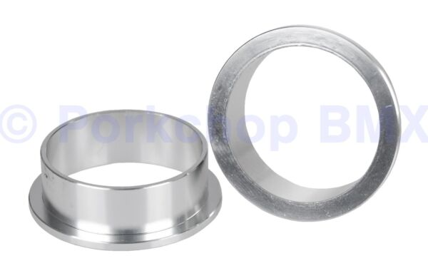 Aluminum road bike to old school BMX 1quot; threaded headset adapter cups SILVER $29.99