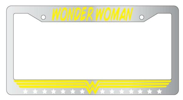 Wonder Woman Chrome Plastic License Plate Frame Accessory DC