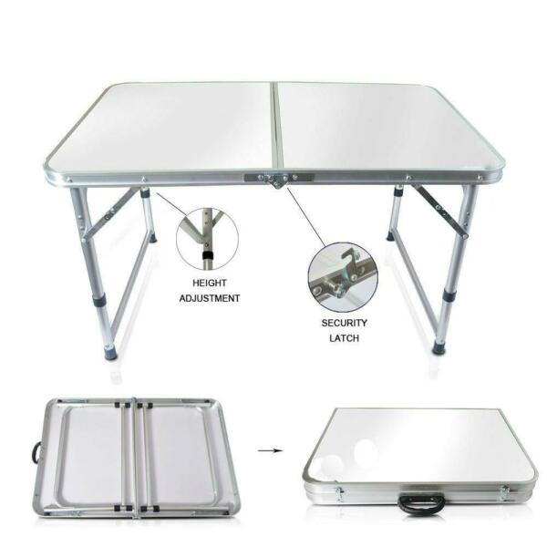 Aluminum Folding Table 4#x27;Portable Indoor Outdoor Picnic Party Camping Tables NEW