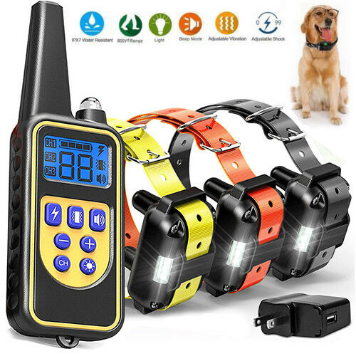 Dog Shock Collar With Remote Waterproof Electric For Large 880 Yard Pet Training $51.95