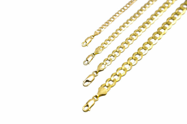 14k Solid Yellow Gold Cuban Link Chain Necklace 1.5-12mm Men's Women Sz 16