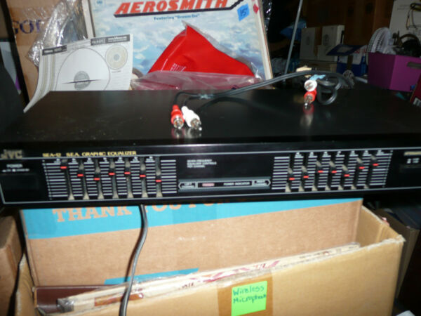 JVC Sound Effect Amplifier S.E.A. SEA-12BK Seven-Frequency Graphic Equalizer EQ