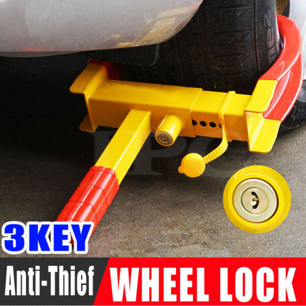 2019 Anti Theft Wheel Lock Clamp Boot Tire Claw Trailer Auto Car Truck Towing