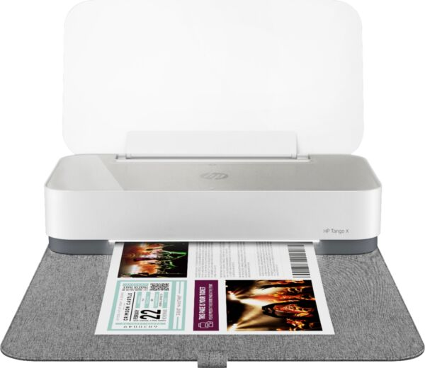 HP Tango X Wireless Instant Ink Ready Inkjet Printer with Linen Cover White