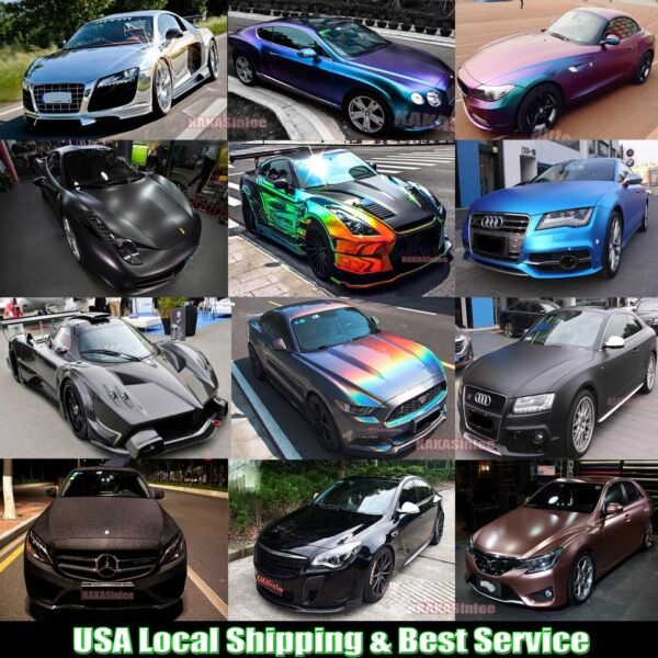 Hot Car 5D Glossy Pearl Metal Matte Satin Chrome Mirror Vinyl Wrap Sticker ABUS
