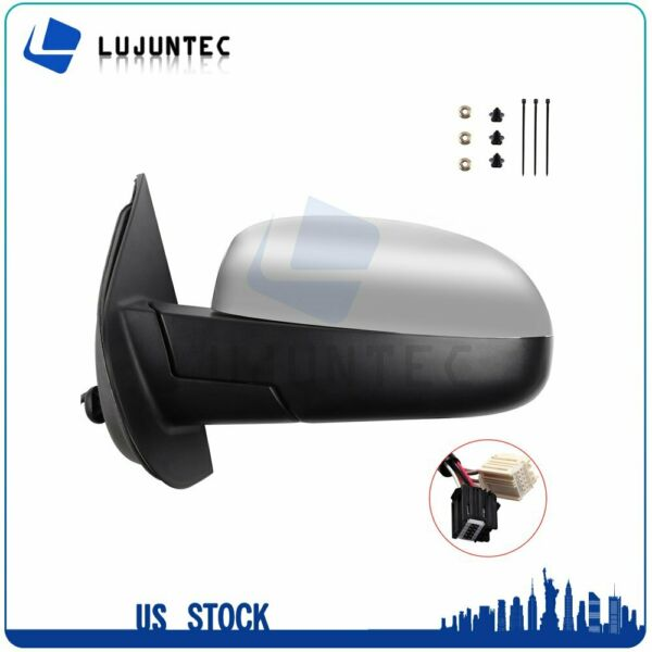 For Chevy GMC LH Power Memory Heated Chrome Signal Driver Side Mirror
