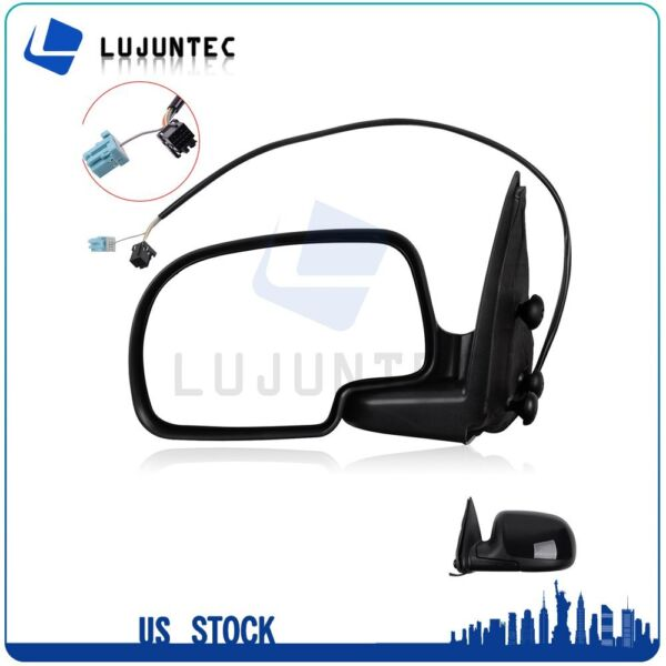 For 2003-2006 Chevy GMC LH Driver Side View Mirror Power Heated Black Left