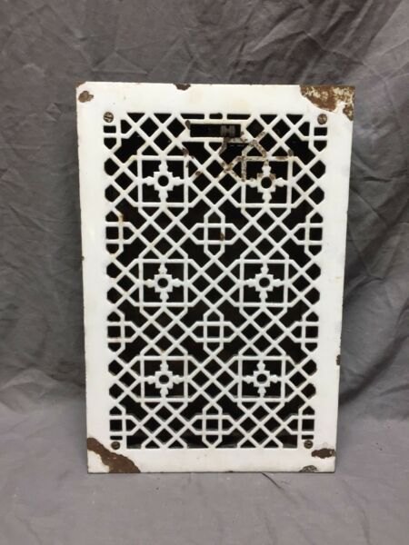 Antique Porcelain Cast Iron Decorative Floor Register Heat Grate 10X16 282-18C