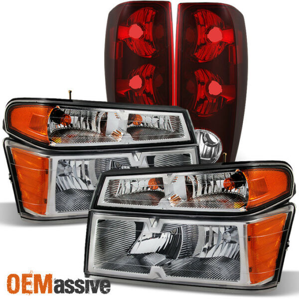Fit 04-12 Chevy Colorado  GMC Canyon Truck Clear Headlights + Tail Lights