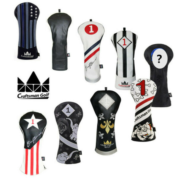 Craftsman Vintage Golf Headcover Hot Driver head cover Black& White 460CC Covers