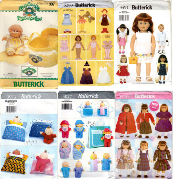 Choice: BUTTERICK Sewing & Craft Patterns for DOLLS DOLL CLOTHING & ACCESSORIES