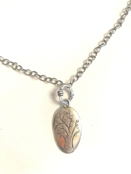 SILPADA STERLING SILVER OXIDIZED FAMILY TREE NECKLACE N1878