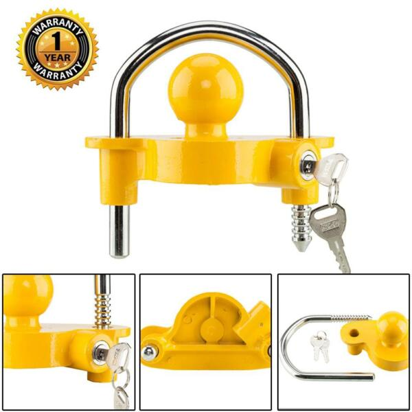 Hitch Lock Universal Coupler Hitch Trailer Lock fits 1 7 8quot; 2quot; and 2 5 16quot; HD $18.61