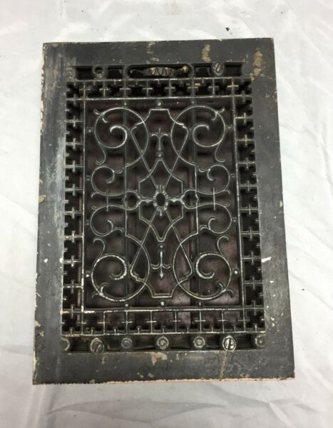 Antique Cast Iron Decorative Heat Grate Floor Register 8X12 Vintage Old 539-18C
