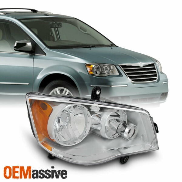 Fits 2008-2016 Chrysler Town & Country Passenger Right Side Headlight Front Lamp