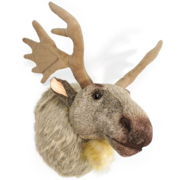 Muscovy the Moose 24 Inch With Antlers Plush Head Wall Mount Bust $59.99