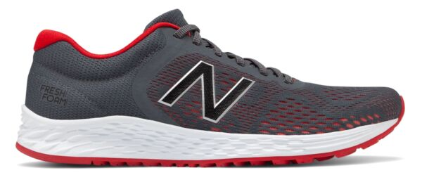New Balance Men's Fresh Foam Arishi v2 Shoes Grey with Red
