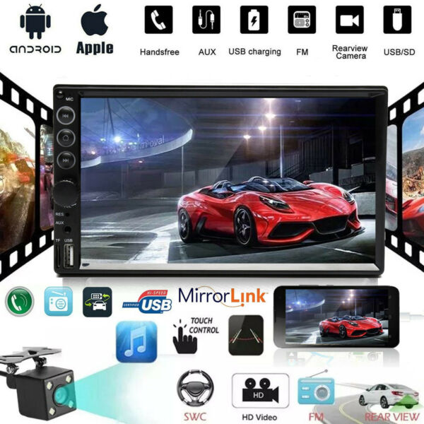 7 Inch Car Stereo Radio MP5 USB AUX HD Bluetooth Mirror Link Touch Screen Player