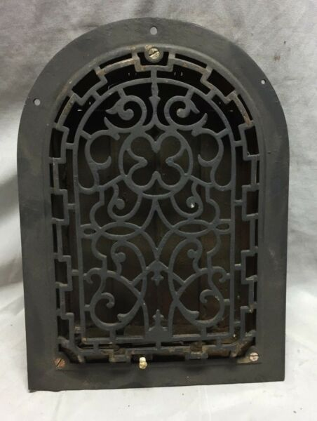 Antique Cast Iron Arch Gothic Decorative Heat Grate Register Vintage 8X12 30-19C