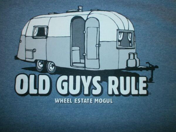 OLD GUYS RULE quot;WHEEL ESTATE MOGULquot; TRAILER 5TH WHEEL AIRSTREAM MLXL2X3X $19.95