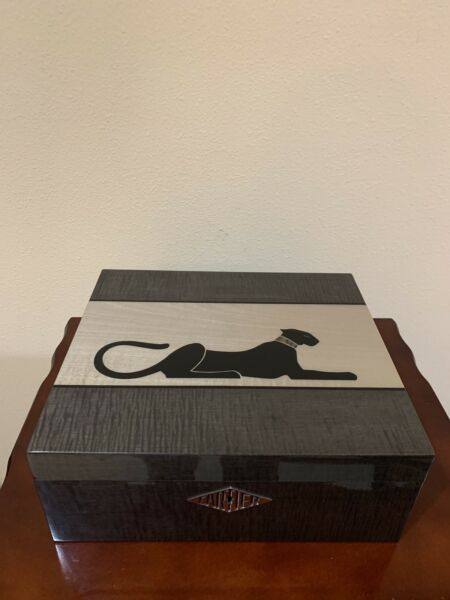 Cartier jewelry watch box case cabinet cedar sycamore marquetry panther abalone