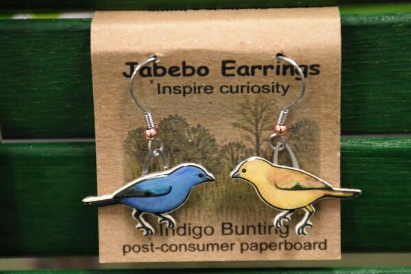 Jabebo Earrings Indigo Bunting
