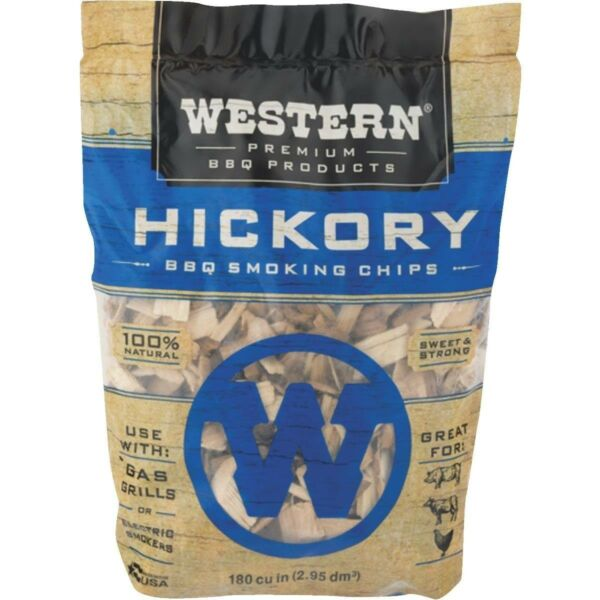 QTY 2-WESTERN Smoking Chips Wood-2 LB 180 Cu.In. - Hickory - NEW - FREE SHIPPING