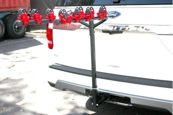 Hitch mount 4 Bike Hitch Rack Mountain Bikes Tilt Fold Fits both 1 1 4quot; amp; 2quot; $79.99