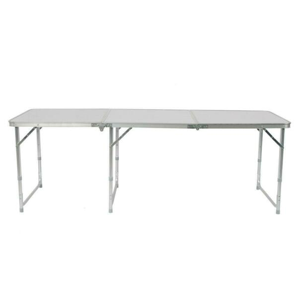 6FT Folding Table Aluminium Alloy Indoor Outdoor Picnic Party Camping White