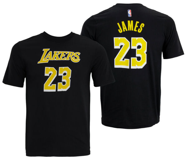 NBA Youth Los Angeles Lakers Lebron James #23 Player Tee Shirt Black