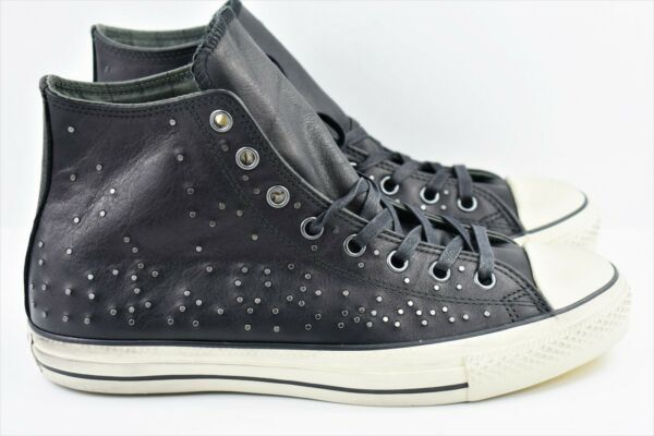 Converse CTAS John Varvatos Mens Size 11 Mini Stud Hi Shoes 151295C Black