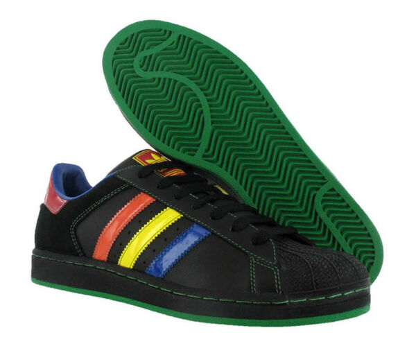 Adidas Superstar Ii 2 Black Blue Orange Green Red