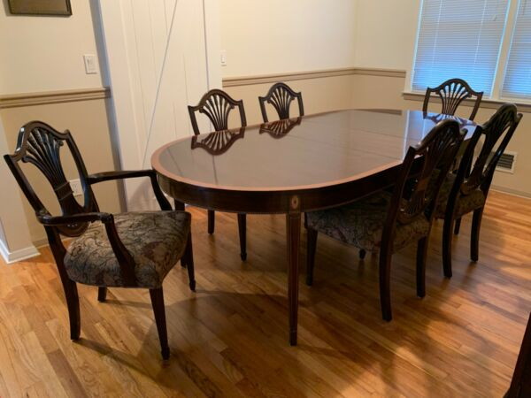 Stickley Classic Mahogany Monroe Place Dining Table 6 Chairs 2 16