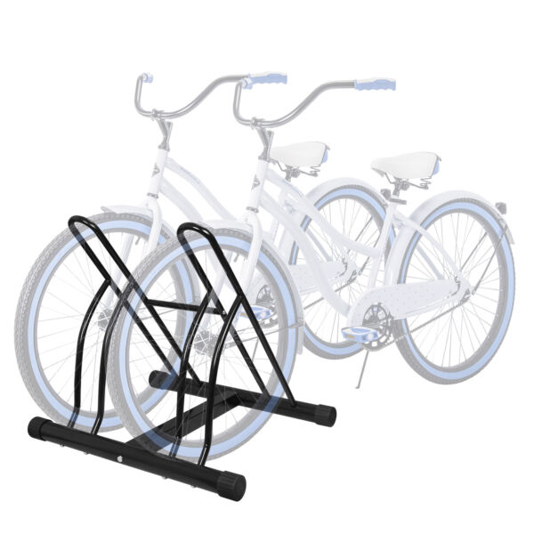Two Bicycle Bike Stand Garage Floor Storage Organizer Cycling Rack Max Tire 2.5quot; $29.99