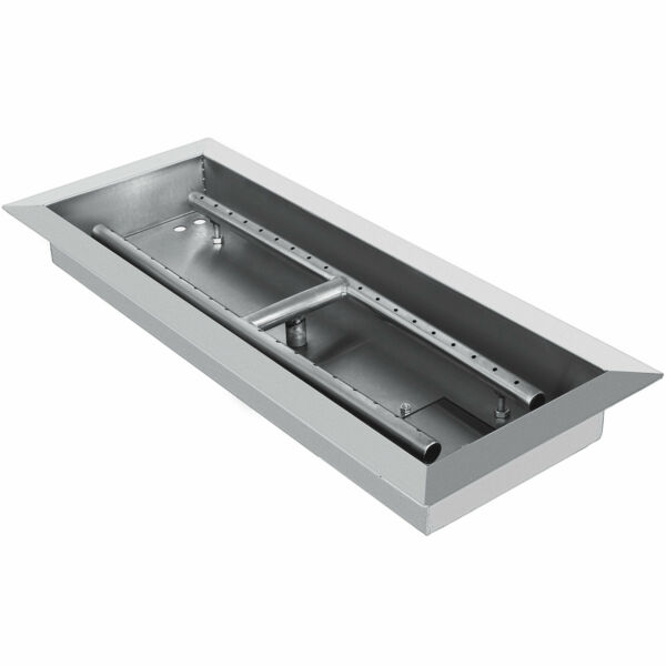 Fire Pit Pan and Burner 20 By 8 Inch Stainless Steel Durability Table Top