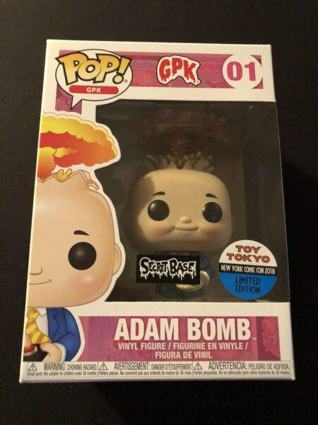 Funko Pop Garbage Pale Kids GPK Adam Bomb Metallic LE 3000 Toy Tokyo Secret Base