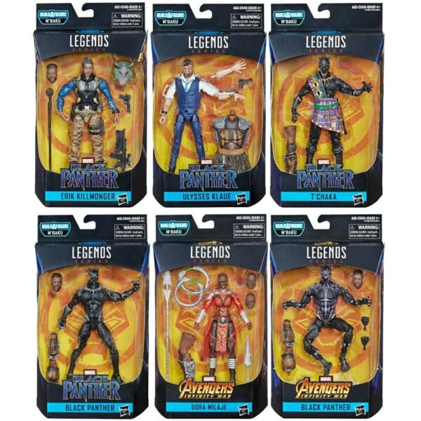 Marvel Legends Black Panther M'Baku Wave Set Of 6 Action Figures IN STOCK