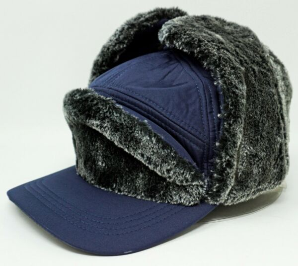 Trapper Ball Cap Outdoor Winter Sport Hat Faux Fur Ear Flap Cover Adult OSFM New $17.95