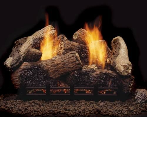 Berkley Oak Remote Control Vent Free Gas Logs - 24