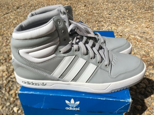 NEW RARE Adidas Originals Court Attitude Mens 11.5 Shoes Gray White Retro Q32945