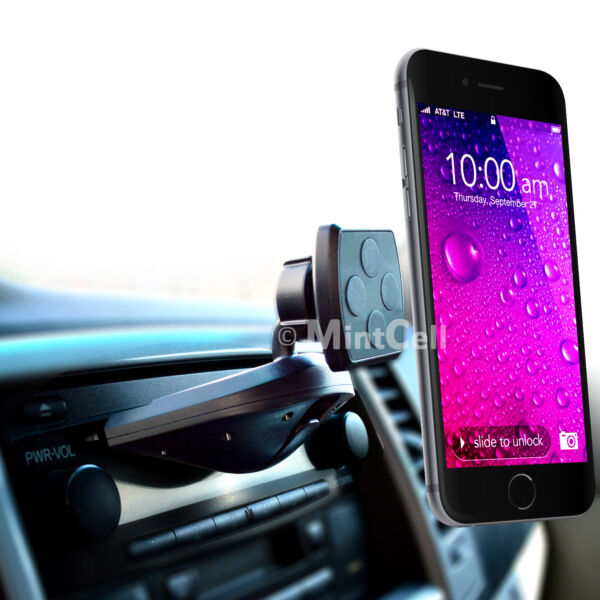 Magnetic Cell Phone Car Holder CD Slot Mount - Smartphone iPhone Samsung GPS