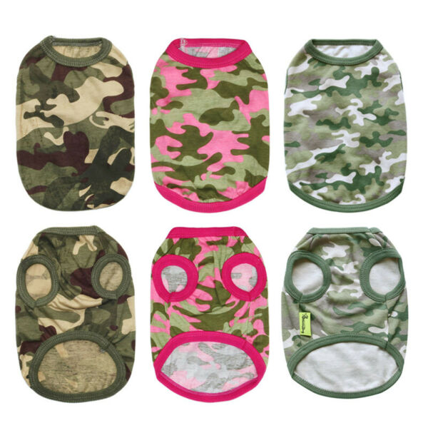 Chihuahua Boy Dog Clothes Army Camouflage T Shirt Puppy Pet Dog Clothing XS S M $3.99