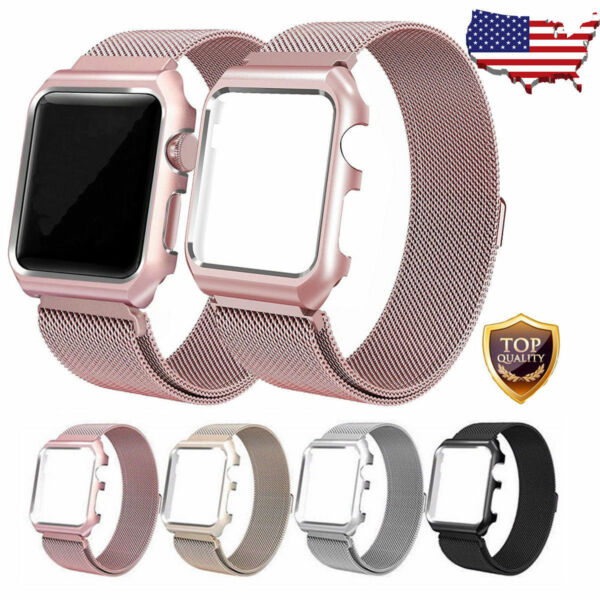 For Apple Watch Series 3 2 1 Milanese Stainless Steel Watch Band Strap 38mm 42mm $10.89