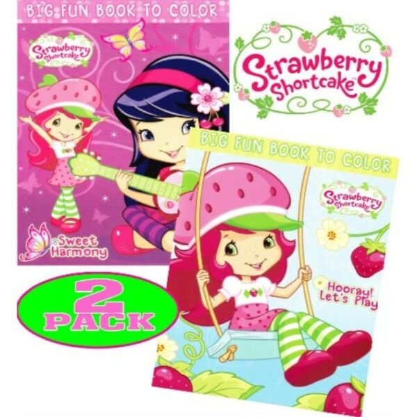 Strawberry Shortcake Coloring and Activity Book Set (2 Books  96 pgs each)