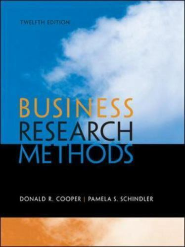 Business Research Methods by Donald Cooper and Pamela Schindler (2013 Ebook PDF)