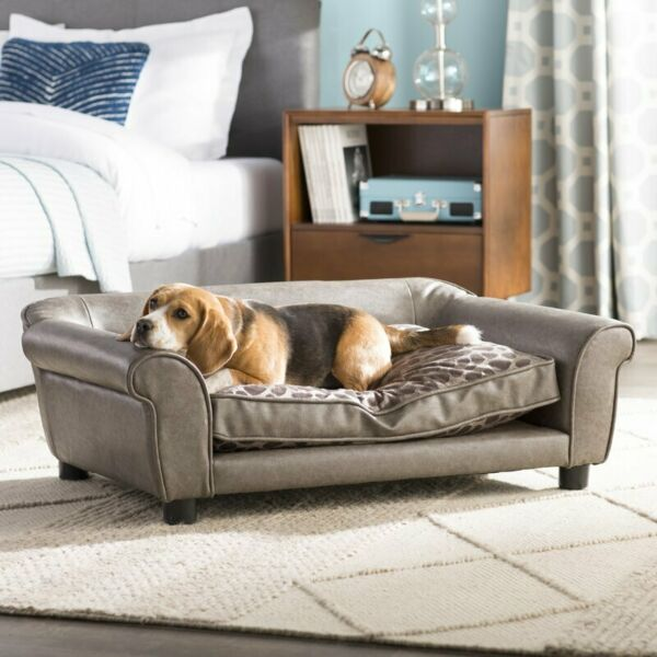 Ultra Plush Astro Dog Sofa Faux Leather W Accent pillow Removable Seeve4 Washing $264.99